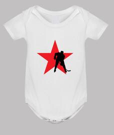 hockey sobre bebés de alta, blanca