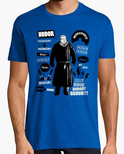 Tee-shirt Hodor citations célèbres