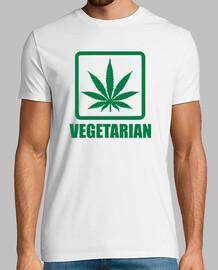 hoja de marihuana vegetariana