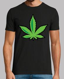 Hoja Marihuana Camiseta Básica