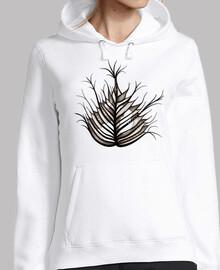 hoja peluda arte botanico abstracto