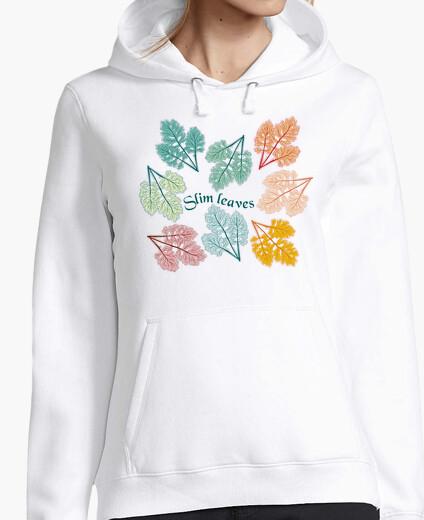 Jersey hojas de moda decoración de hojas delga