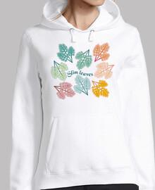 hojas de moda decoración de hojas delga