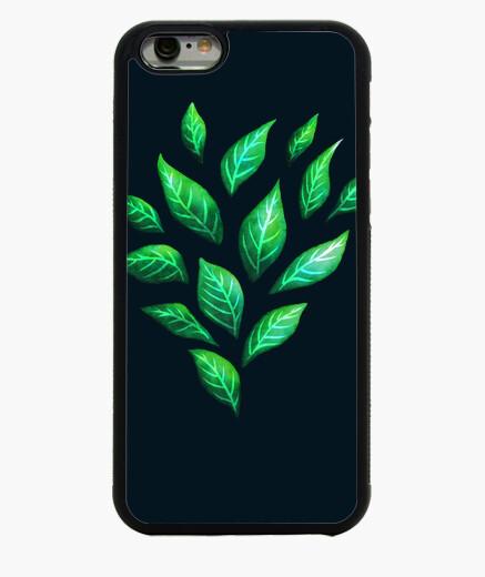 Funda iPhone 6 / 6S hojas verdes abstractas decorativas