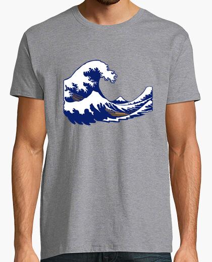 T-shirt hokusai fuji stampa onda onda