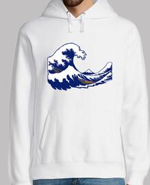 Hokusai Stempel Fuji Welle Welle