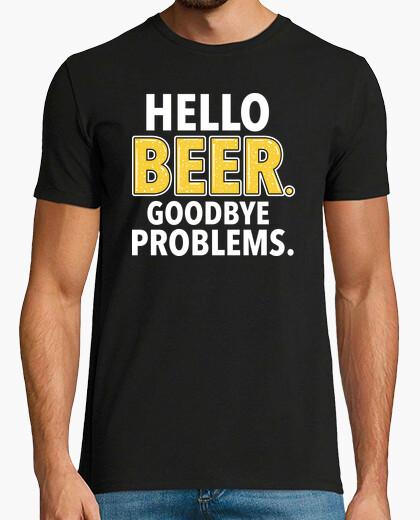 Camiseta Hola CERVEZA. Adios PROBLEMAS.