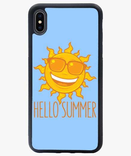 Funda iPhone XS Max hola sol de verano con gafas de sol