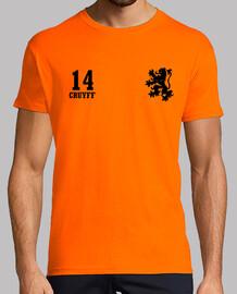 Holanda retro - 14 Cruyff (naranja)