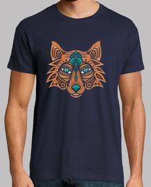 hombre - cabeza de zorro tribal