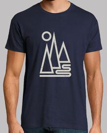 hombre - montañas geométricas