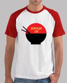 Hombre Bangkok Cuisine, estilo béisbol, blanca y roja