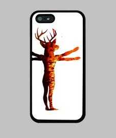 Hombre Bosque en Llamas - Funda Iphone 4/5