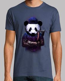 hombre bucheron panda