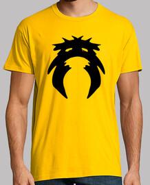 Hombre Camiseta Calvera, manga corta, amarillo mostaza, calidad extra