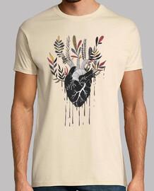 hombre de la camiseta del corazón