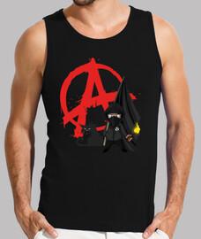 hombre de la tapa del tanque - anarquía bloque negro gato