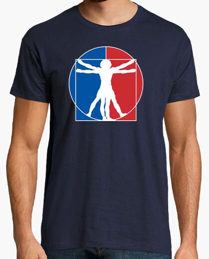 Camiseta Hombre de Vitruvio - Logo NBA