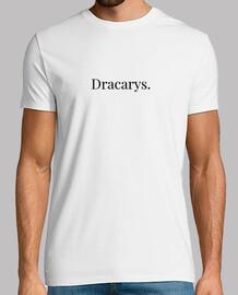 Hombre Dracarys, manga corta, blanco, calidad extra