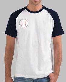 Hombre, estilo béisbol, blanca y azul marino