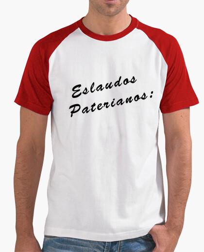 Camiseta Hombre, estilo béisbol, blanca y...