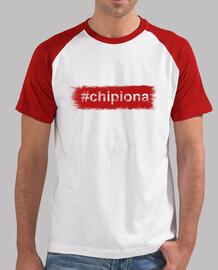 Hombre, estilo béisbol, blanca y roja - #Chipiona