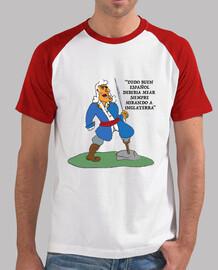 Hombre, estilo béisbol, blanca y roja Blas