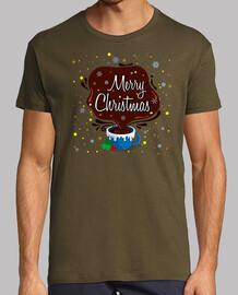 Hombre, estilo retro, chocolate y azul cielo Merry Christmas Mug