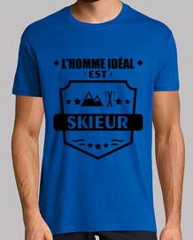 hombre ideal esquiador esquí