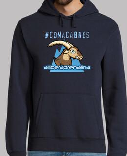 Hombre, jersey con capucha, azul marino