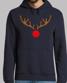 Hombre, jersey con capucha, azul marino Rudolf