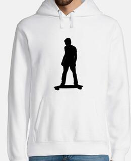 Hombre, jersey con capucha, blanco