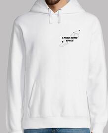 Hombre, jersey con capucha, blanco, diseño tumblr I need some space