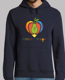 Hombre, jersey con capucha freedom to love