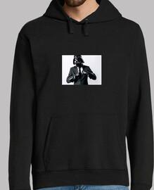 Hombre, jersey con capucha, negro. Darth Vader