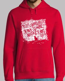 Hombre, jersey con capucha, rojo