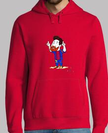 Hombre, jersey con capucha, rojo,barcelona,futbol,para el,messi,