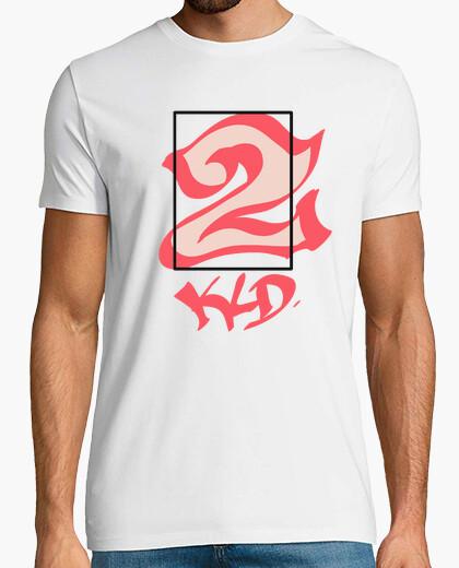 Camiseta Hombre, manga corta, 2 KLD rojo