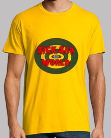 Hombre, manga corta, amarillo mostaza, calidad extra