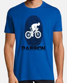 Hombre, manga corta, azul royal, calidad extra, bicicleta