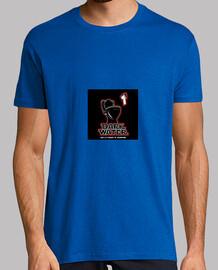 Hombre, manga corta, azul royal, calidad extra. Darth Vader