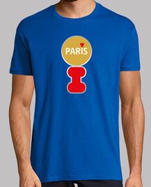 Hombre, manga corta, azul royal, calidad extra I LOVE PARIS Jaime paris