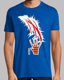 Hombre, manga corta, azul royal, calidad extral, Krueddyr camisetas de terror,