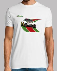 Hombre, manga corta, blanco,  Lancia Stratos