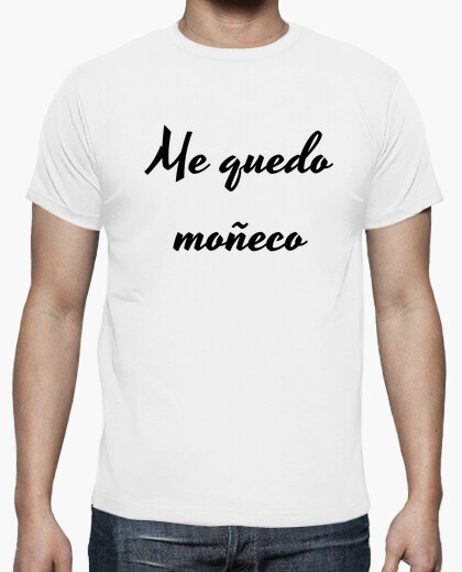 Camiseta hombre blanca moñeco