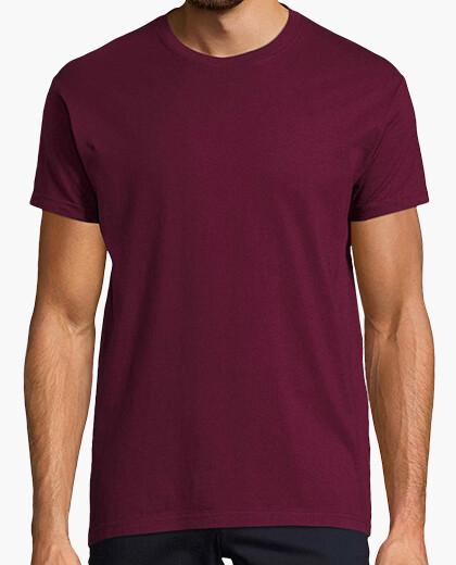 Camiseta Hombre, manga corta, burdeos, calidad extra