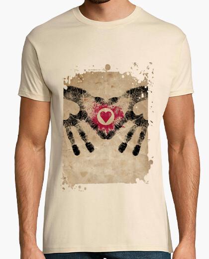 Camiseta Hombre, manga corta, crema, calidad extra *