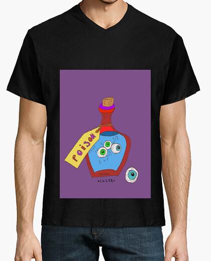 Camiseta Hombre, manga corta cuello pico cerrado, rojo