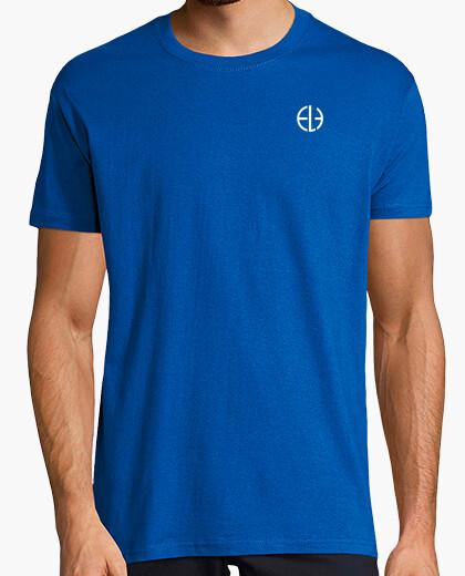 Camiseta Hombre, manga corta cuello pico largo, negra