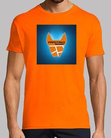 Hombre, manga corta, naranja, calidad extra